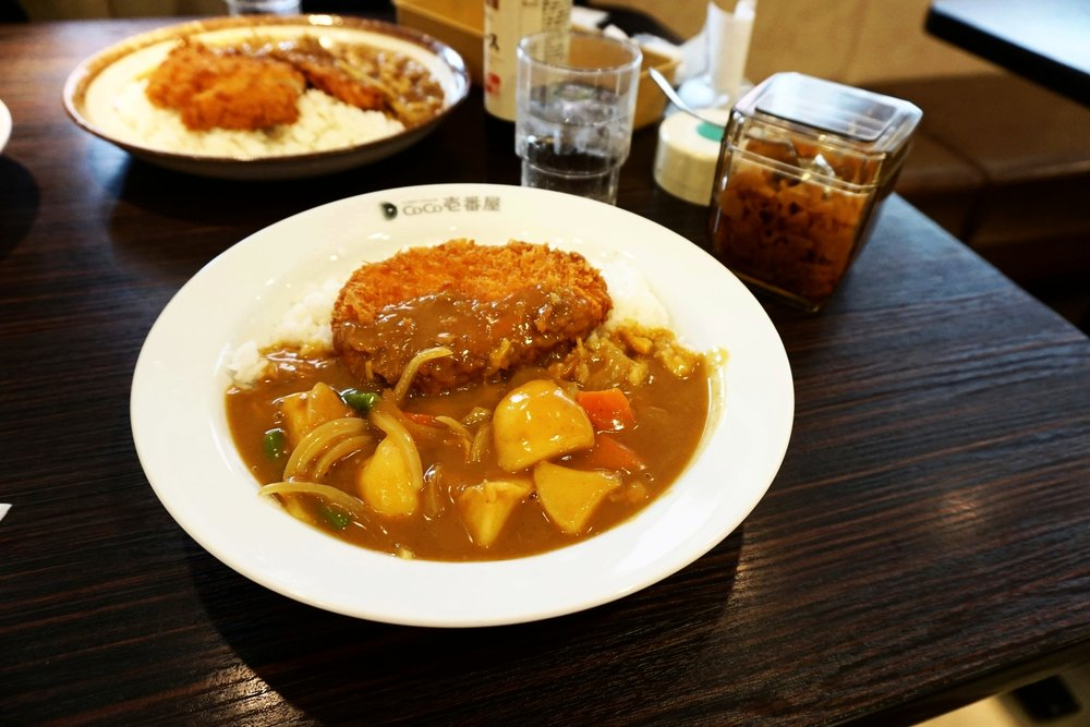 Shrimp croquette curry at Coco Ichibanya