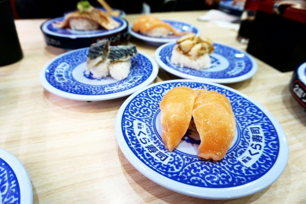 100 yen nigiri plates at Kura Sushi