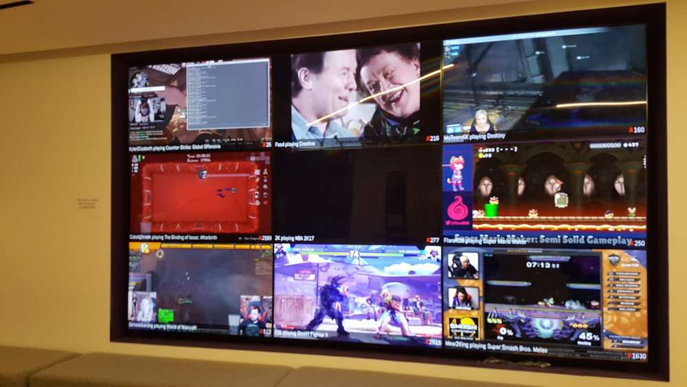 And of course, Twitch is streaming their top videos in the lobby.
