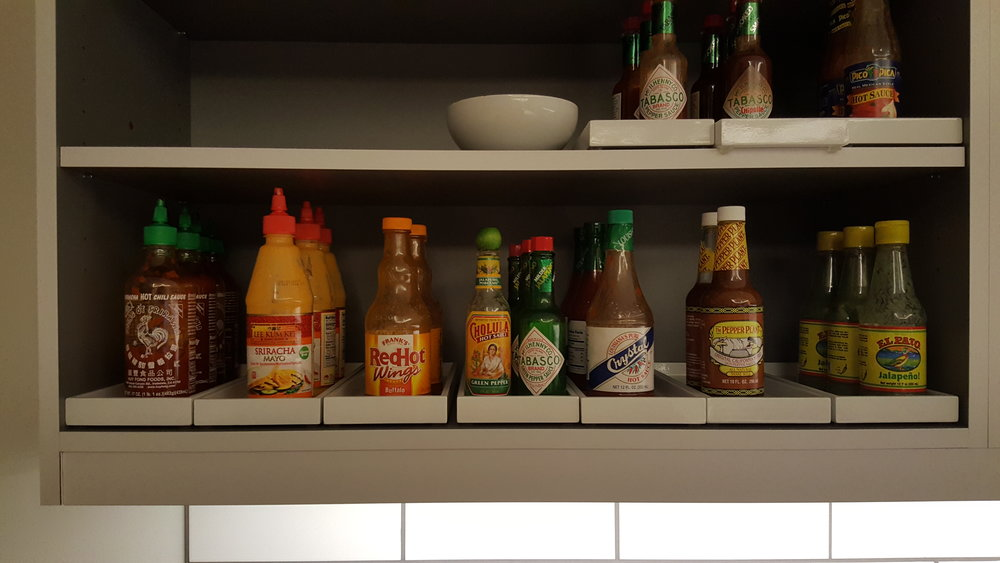 Loving how many choices of hot sauce there are! Crystal is one of my favorites.
