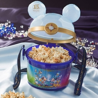 Tokyo DisneySea Limited 15th Anniversary Popcorn Bucket  2000 yen    ♦ Disney Sea exclusive!