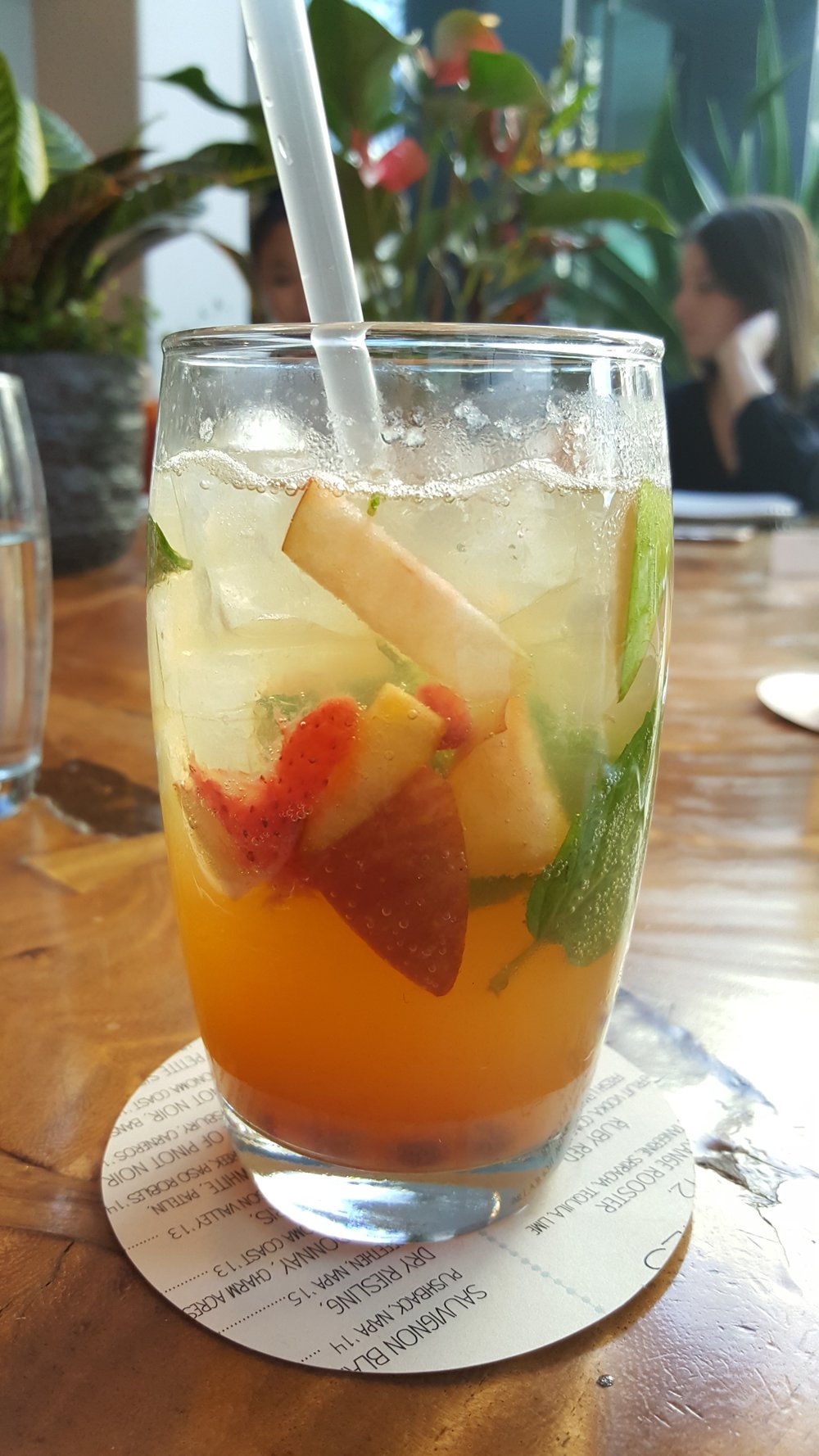 Bluestem Smash (St. German, Vodka or Whiskey, Muddled Seasonal Fruit, Mint, Lime & Sparkling Wine)