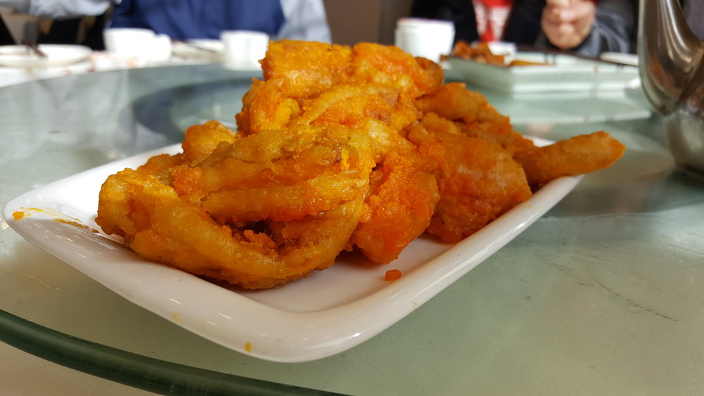 Deep Fried Pumpkin with Salty Egg Yolk