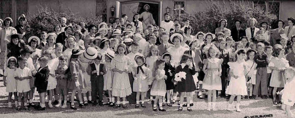Easter 1951, CC church school children, Orange Avenue.