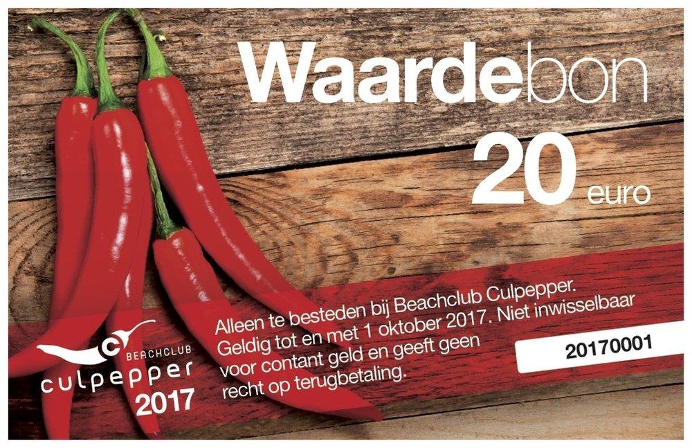Bestel een cadeaubon van Culpepper - Te koop op locatie of via cu@culpepper.nl