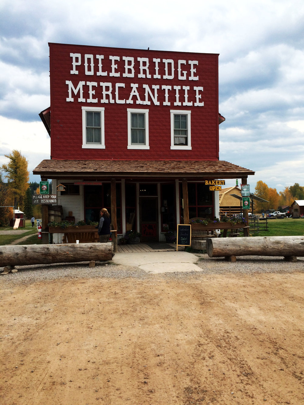"""Polebridge, Montana: Population 3. Just kidding, but seriously a remote little town in the Northfork of Glacier National Park. This quaint red building above is the only Mercantile store (locally called """"the merc"""") in the area. Ate a little slice of heaven aka huckleberry pie and traveled the unforgiving, but absolutely gorgeous dirt road to the crisp Kitla Lake where we sipped cabernet by the fire."""