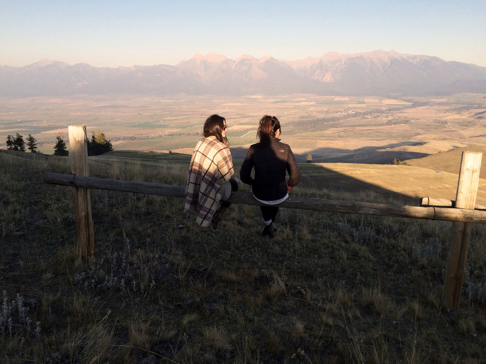 Looking out at the National Bison Range in the Flathead Valley just North of Missoula.