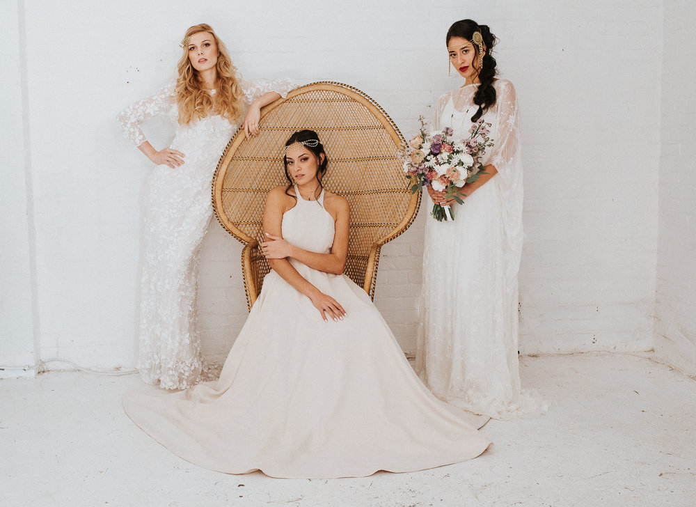 Photo credit: Samantha Roy Photography Designers (left to right) : Anais Anette, Lena Medoyeff & Anya Dionne