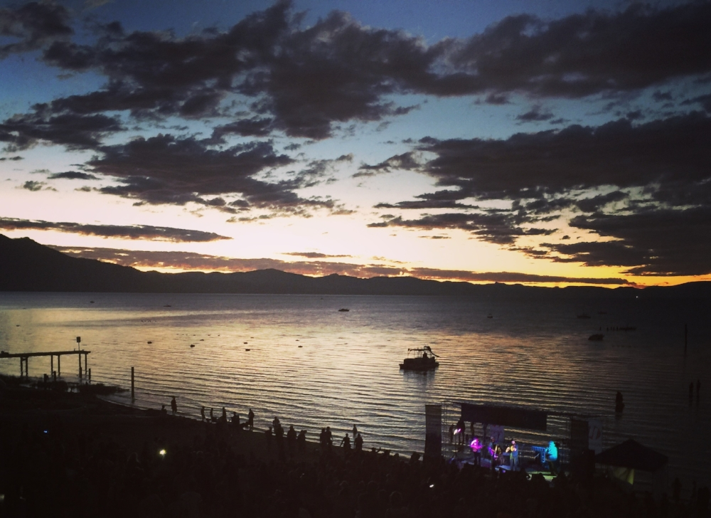 Lake Tahoe on a beautiful summer's evening