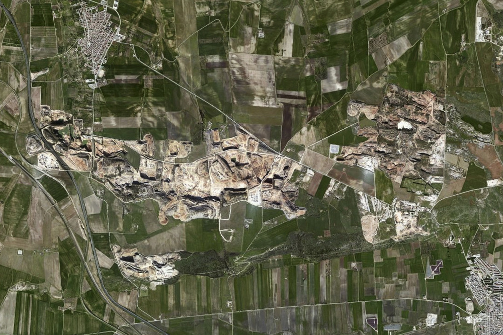 Vue satellite de la zone