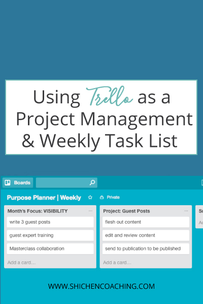 Video Training Using Trello As A Project Management Task