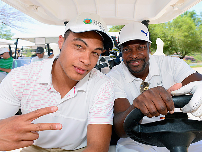 Dale Moss & Actor Chris Tucker team up during the Coach Woodson Celebrity Golf Outing in Las Vegas, Nevada - People Magazine