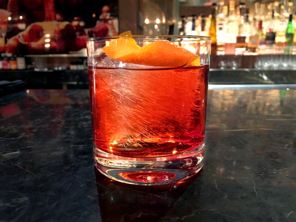 Save The Sugar - When in doubt... leave the sugar out! ok ok ok it's easier said than done but aside from having the nasty hangover the next day you can cut your calories dramatically by going with a martini, manhattan or what's pictured here a Negroni.  Barrel Aged Negroni : American Cut NYC