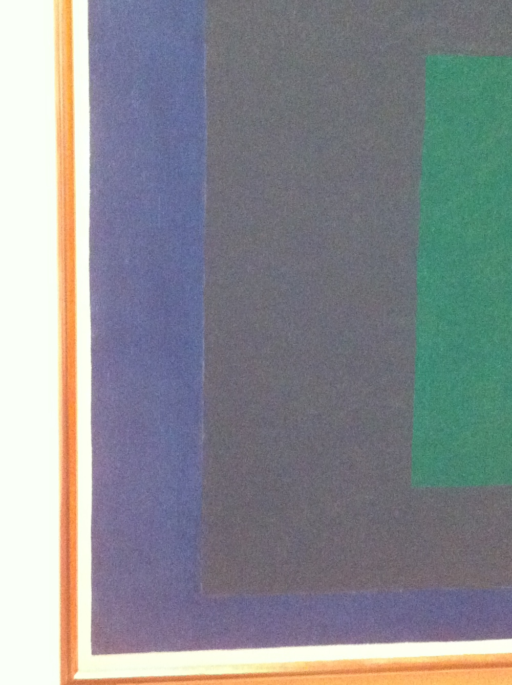 Close up of Joseph Albers colour study