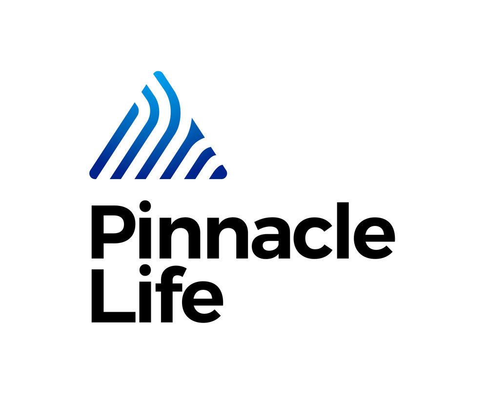 Pinnacle Life 2018 logo tall colour