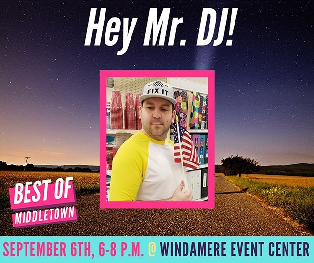 Catch Mike Saltzmann at the Best of Middletown 2018 Special Event ! He will be playing some great music to help Jenny-lou Damron officially announce the winners of the Best of Middletown 2018! Tickets are on sale now! 🎤🏆
