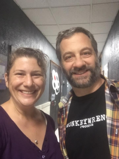 Judd Apatow and Under The Gun Theater Owner Angie McMahon