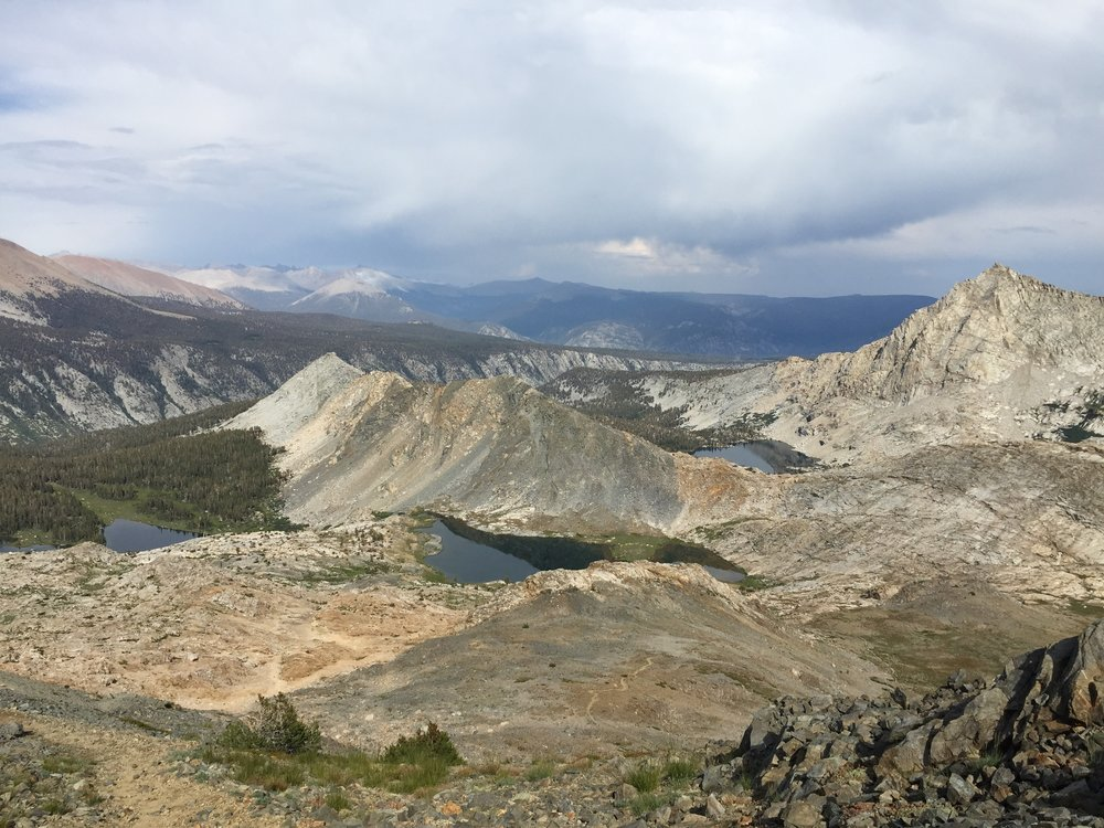 View from the top of Black Rock Pass