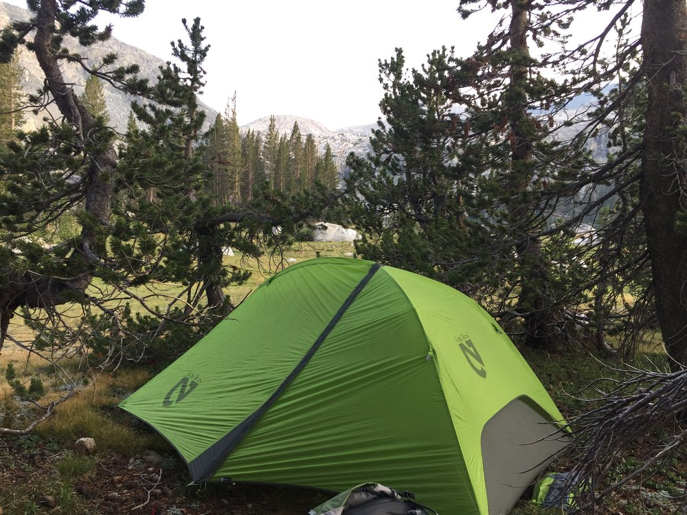 Nice camp site, Little Five Lakes