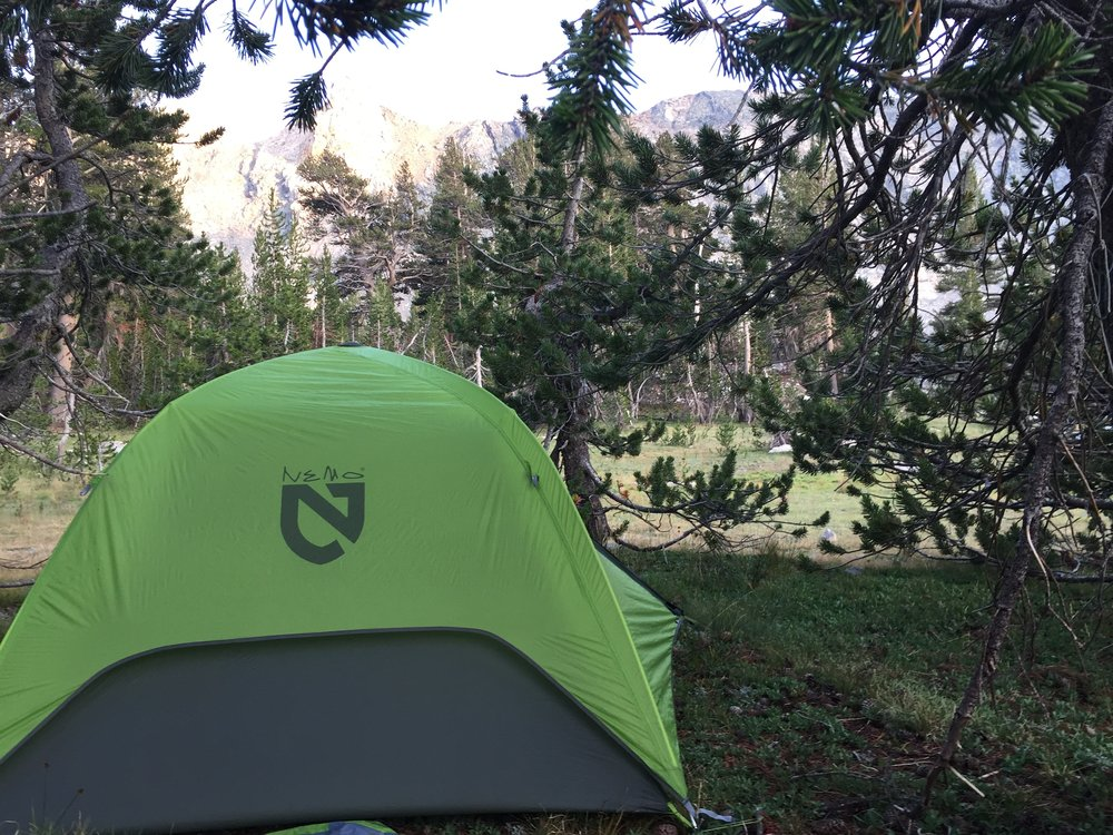 The view from my tent was amazing