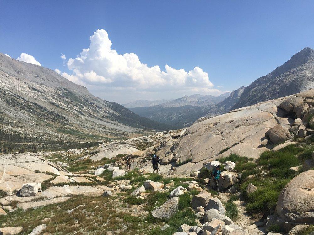 On the way up, Kaweah Gap
