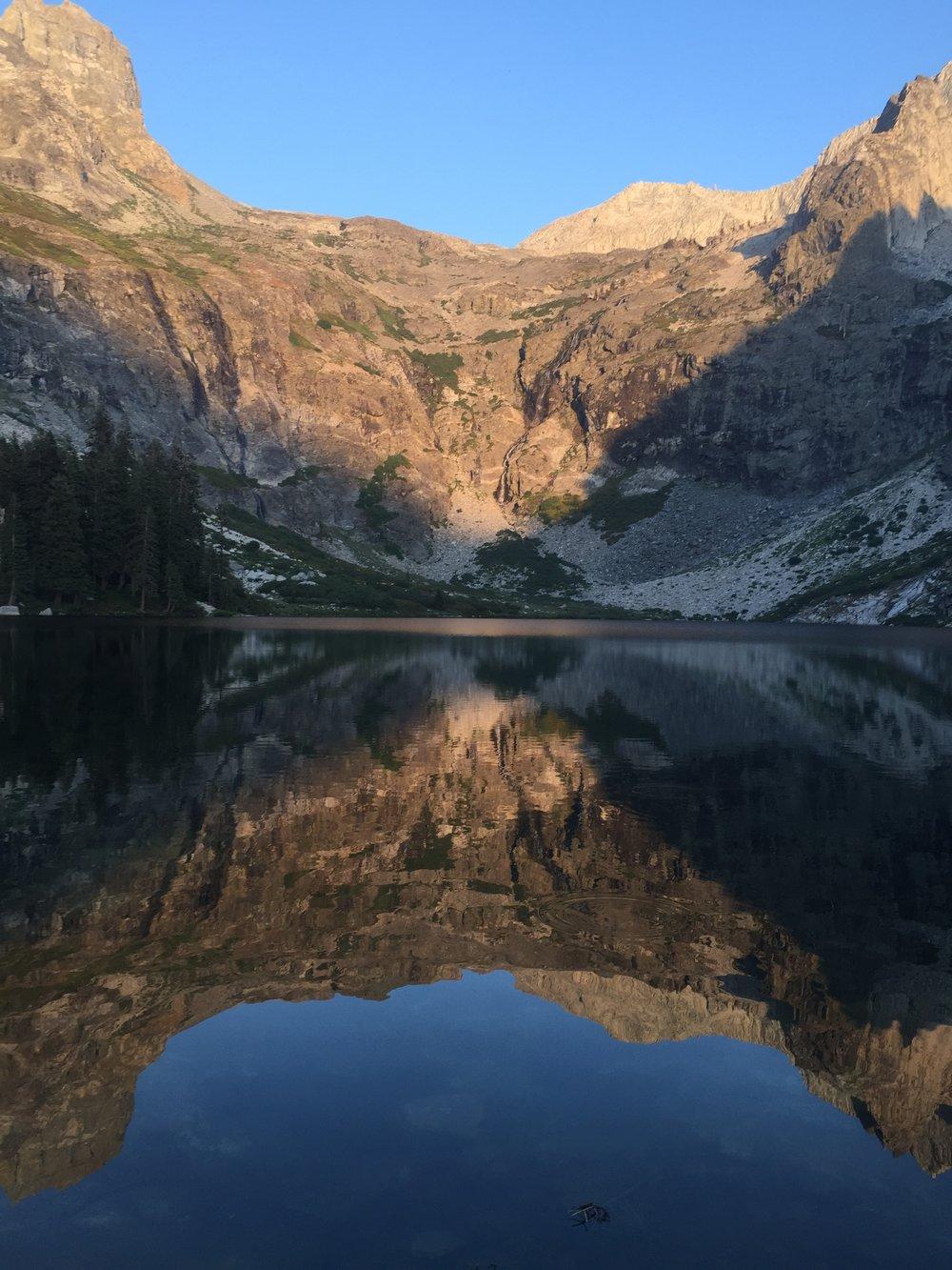 Evening light and reflection, Lake Hamilton