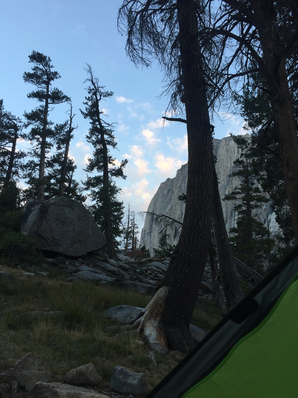 View from my tent in the morning, Day Five