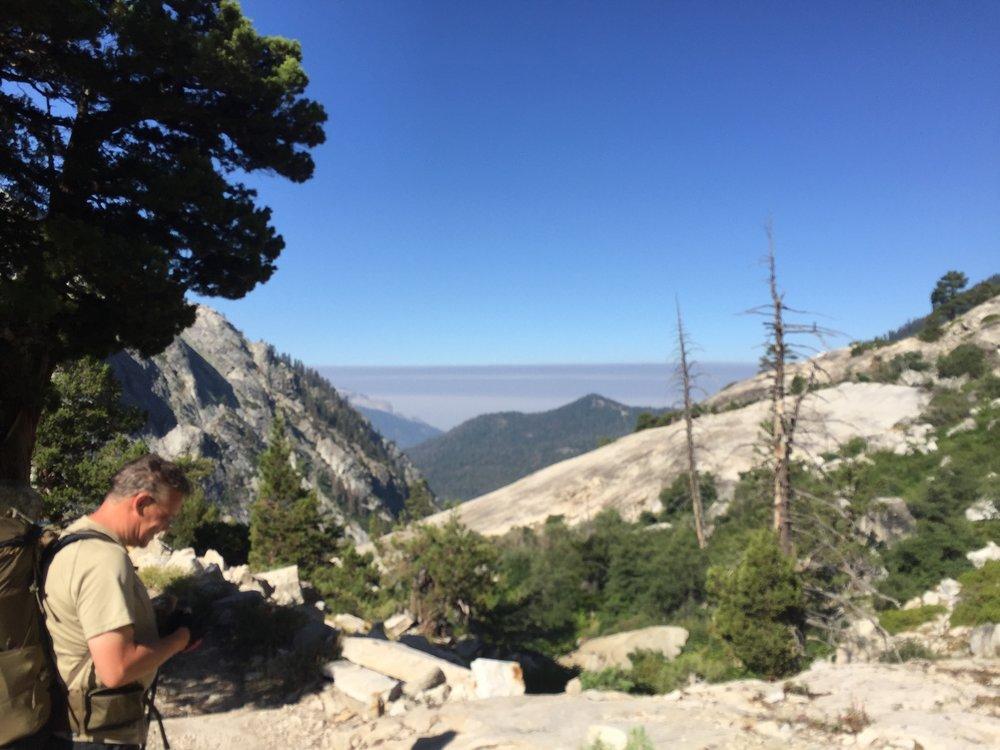Ian hiking on day five