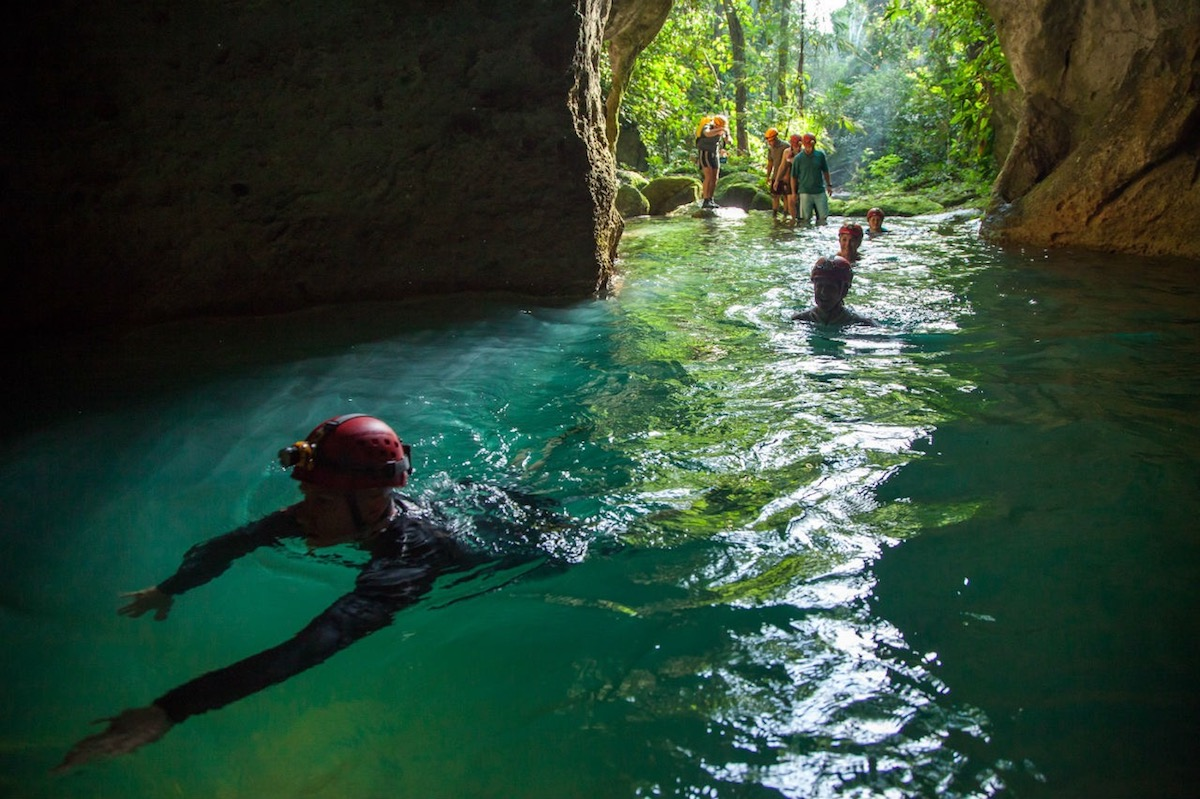 Cuba Adventure Company Canoeing Barton Creek Cave / Mayan Culture Center