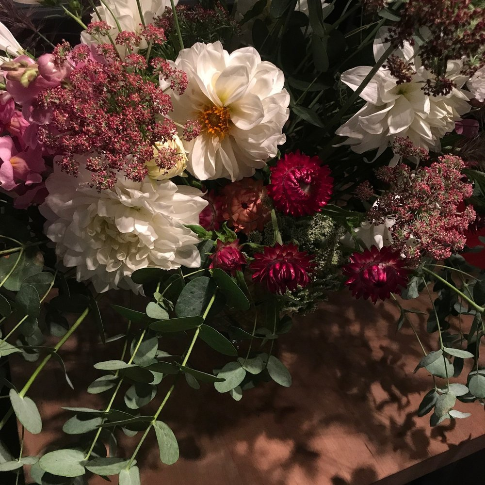 Fresh Hudson Valley and Adirondack flowers at Flower School New York.