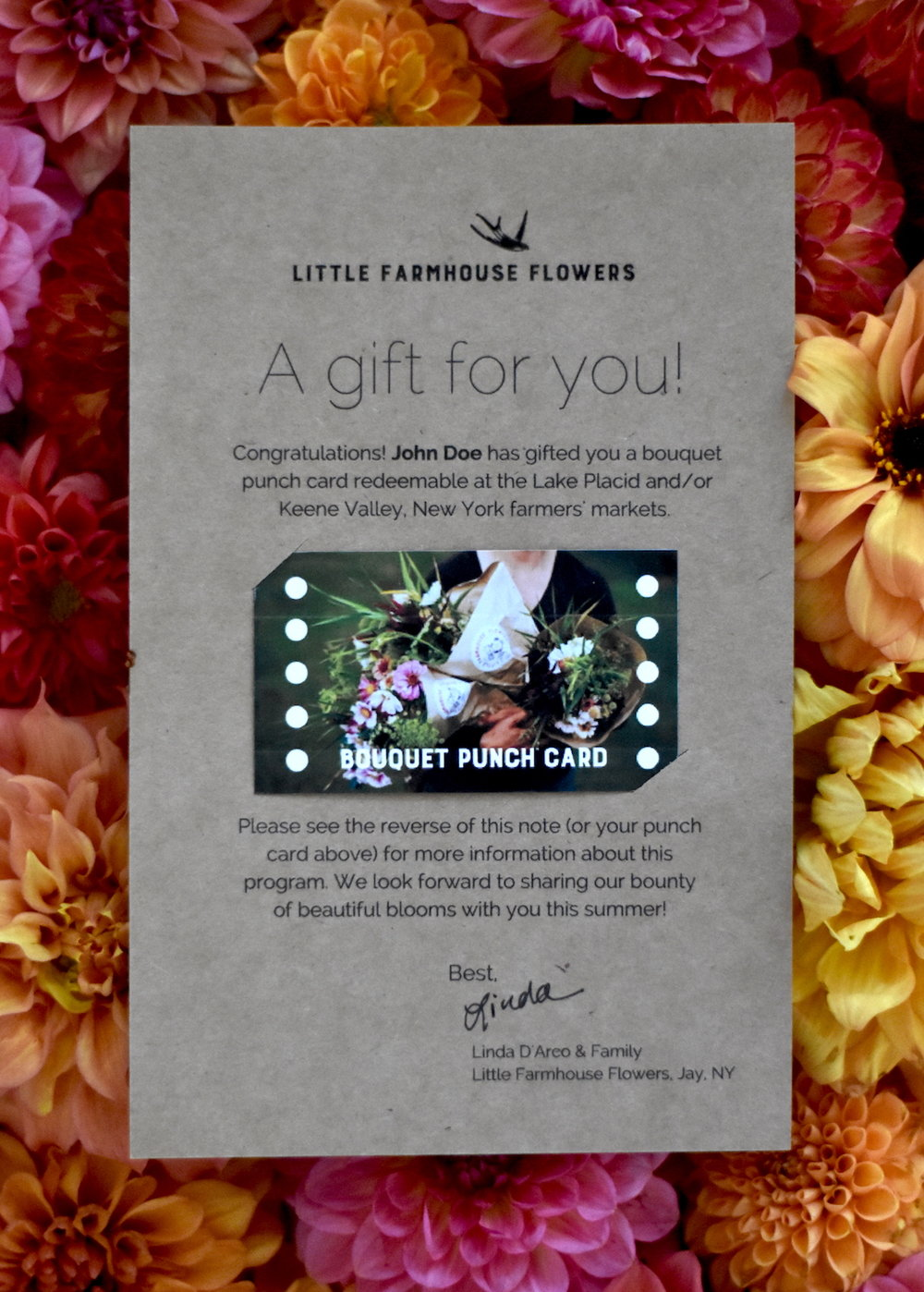 Bouquet Punch Cards Why They Work For Us Little Farmhouse Flowers