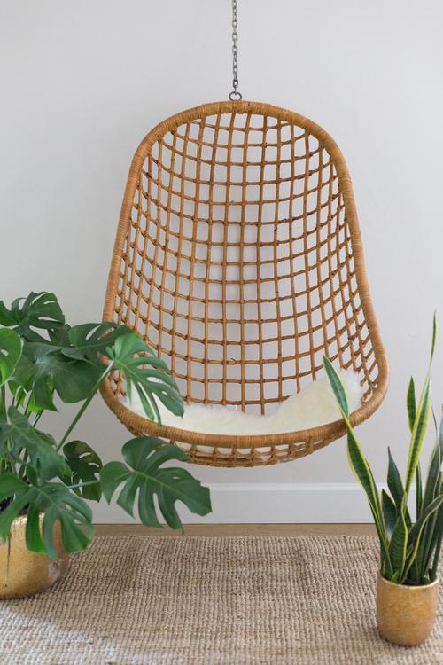 Rattan Hanging Chair - Rattan Hanging Chair — Casa Botanica