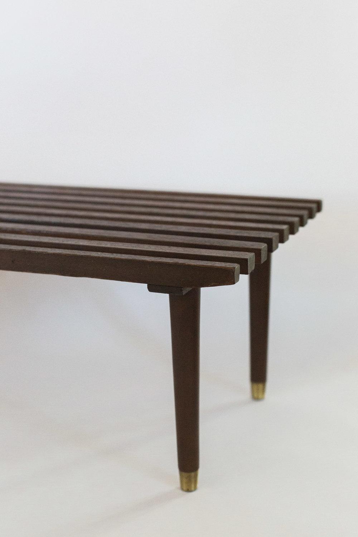 Mid Century Slat Bench