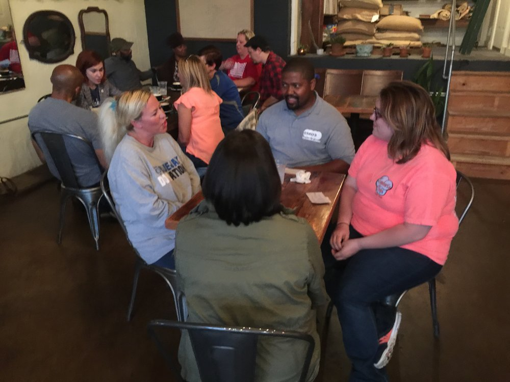 teachers sharing stories with each other at hoboken coffee.jpg