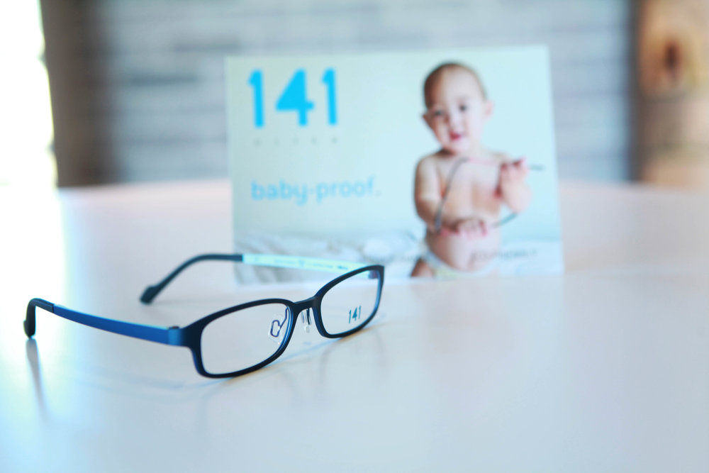 "141 ""Ultem"" frames are flexible and know as baby proof."