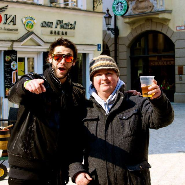Throwback to me and 'Lenny' in Munich, Germany a few years back. Good times Lenny, wish you spoke better English!