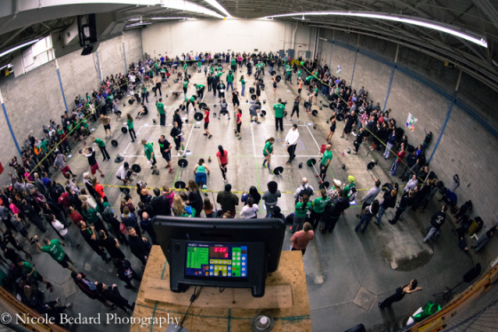 Inside view of CrossFit Redzone. via @NicoleBedardPhotography