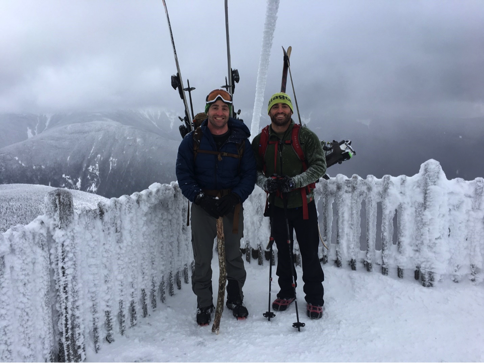 Ice climbing is no joke, nor is hiking up Cannon Mountain.