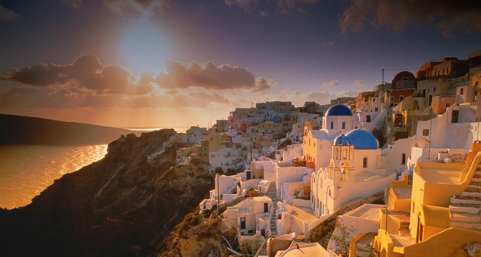 Santorini is known for its WILD sunsets.