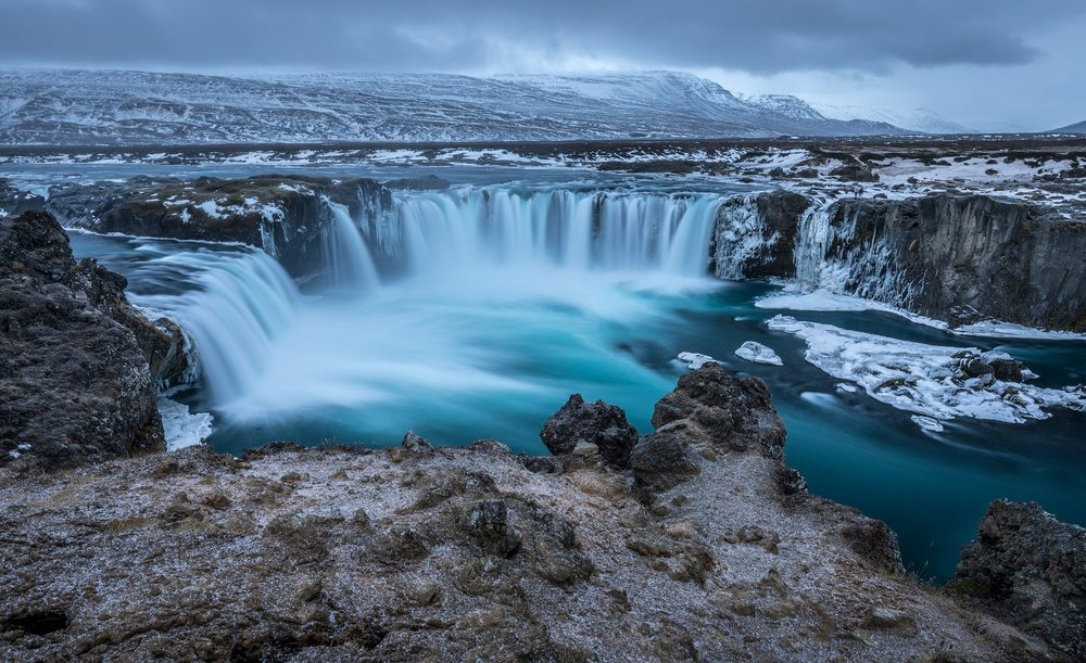 Gulfoss Waterfalls in the Golden Circle Area of Iceland