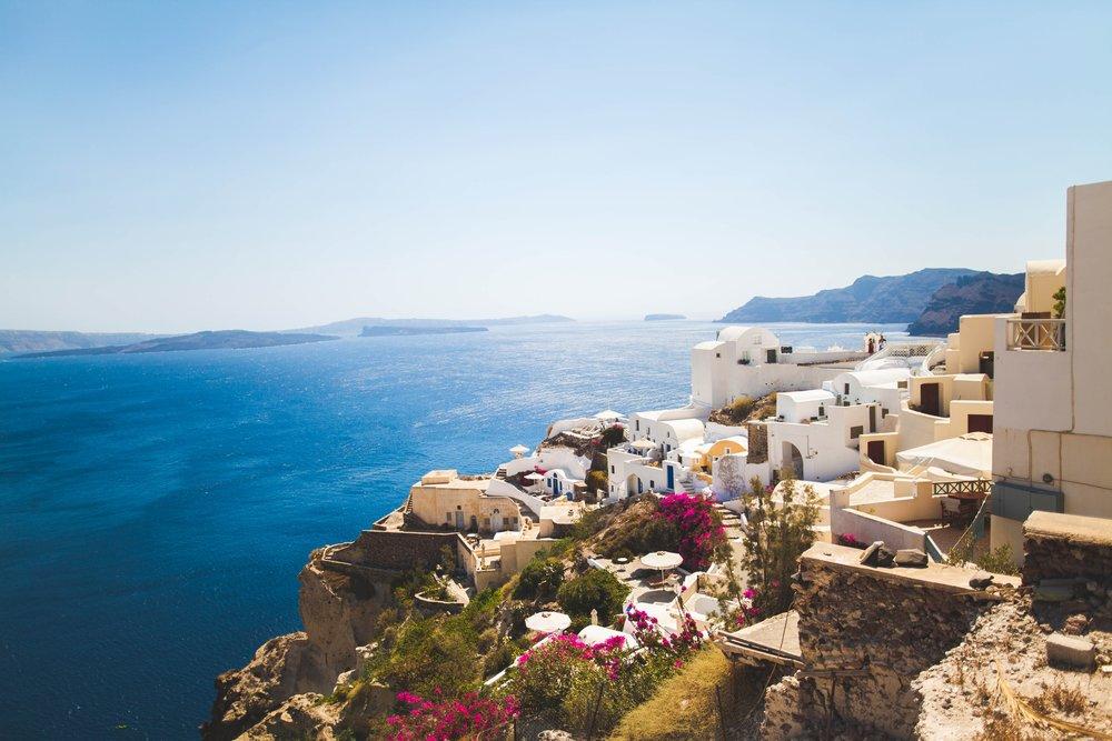 santorini greece voyedge rx tour