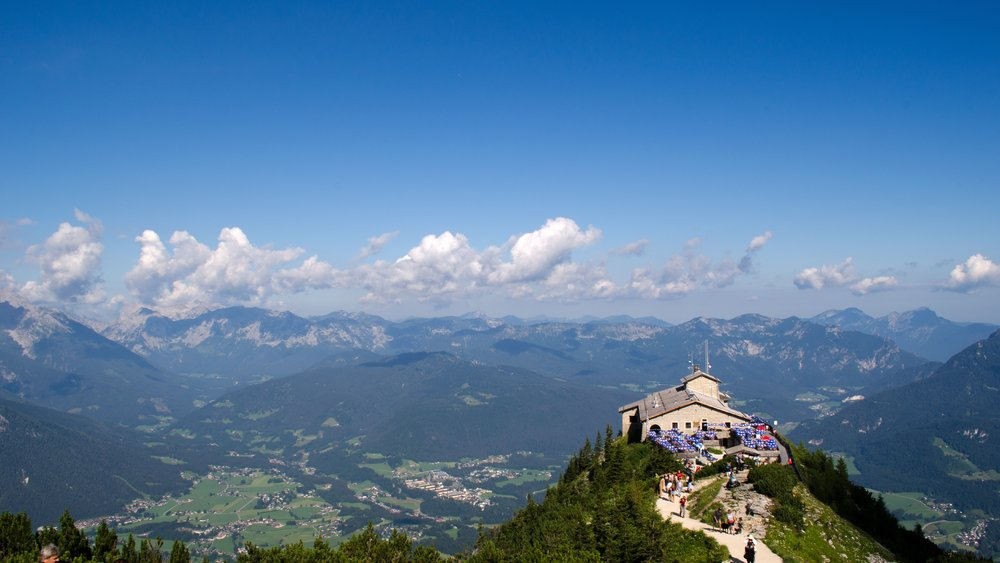 The view of the Berchtesgaden, or rather known as, 'Hitler's Eagle's Nest.'