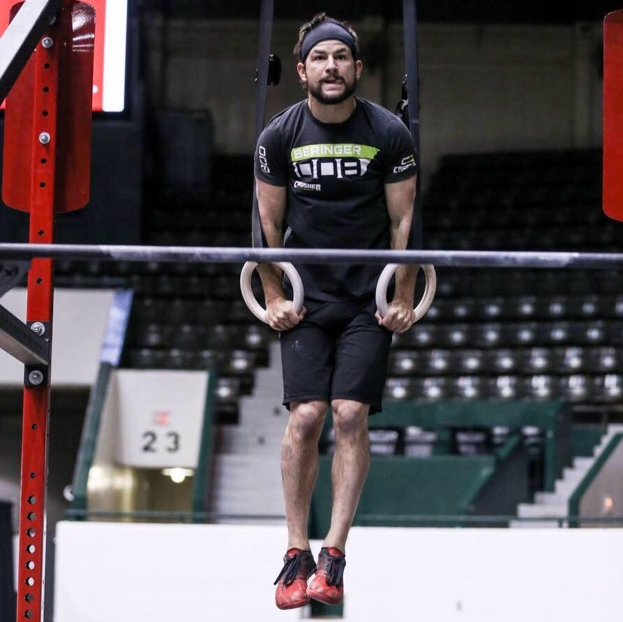 Even with a busted ankle, I can still get my muscle-ups in. #tbt to the Granite Games!