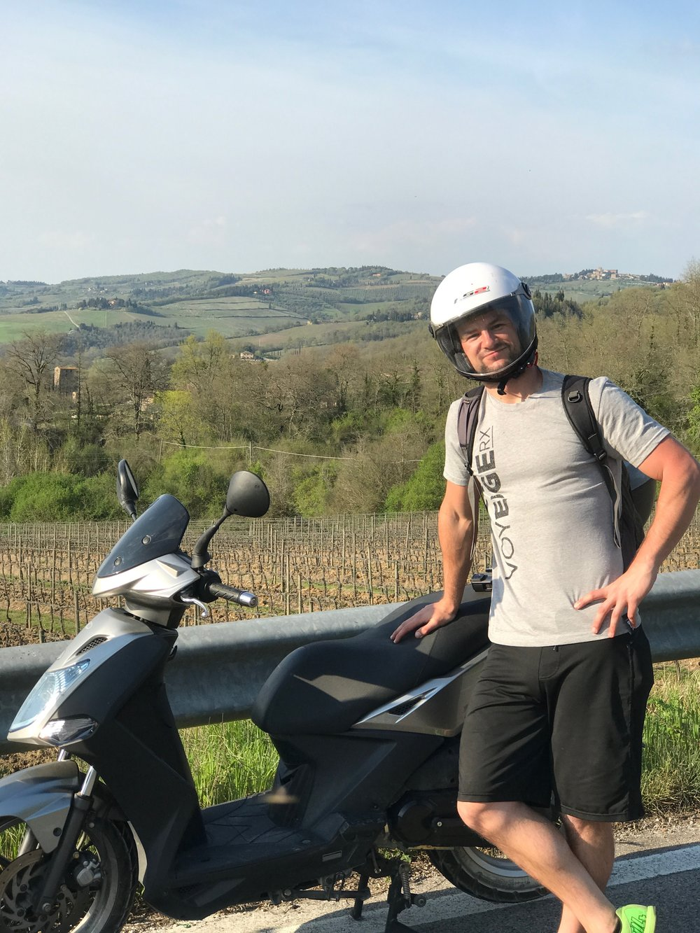 Proof of Tony riding a vespa in Chianti