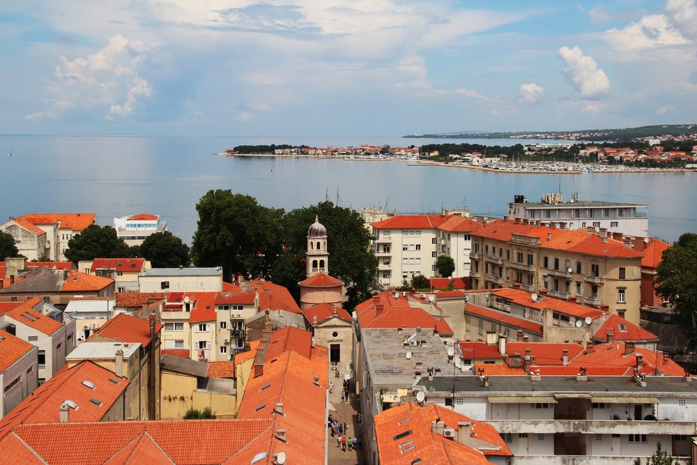 The unmistakeable clay roofs of Split, Croatia