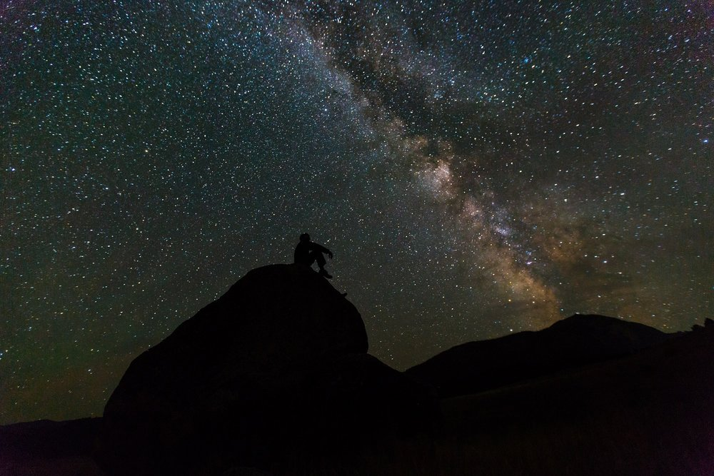Stargazing in Utah's National Parks. Without light, everything is illuminated.