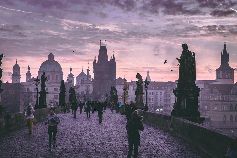The Charles Bridge in Prague, CZ