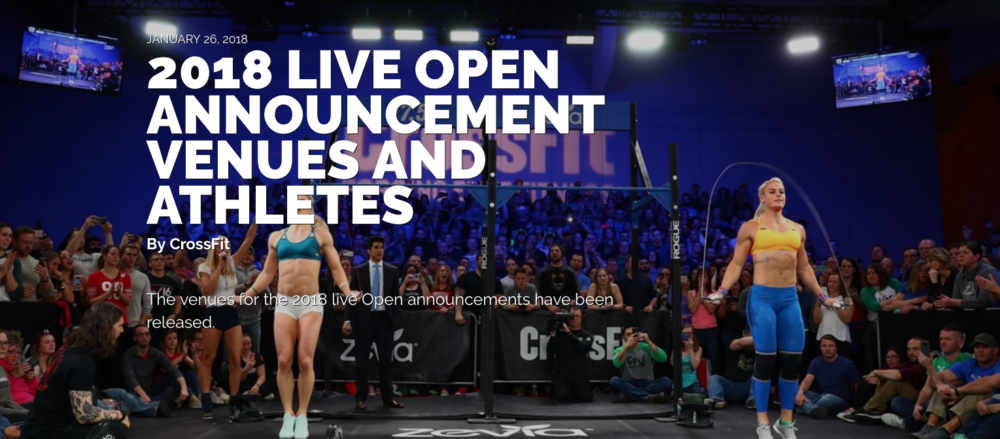 Sign-up for the 2018 CrossFit Open!