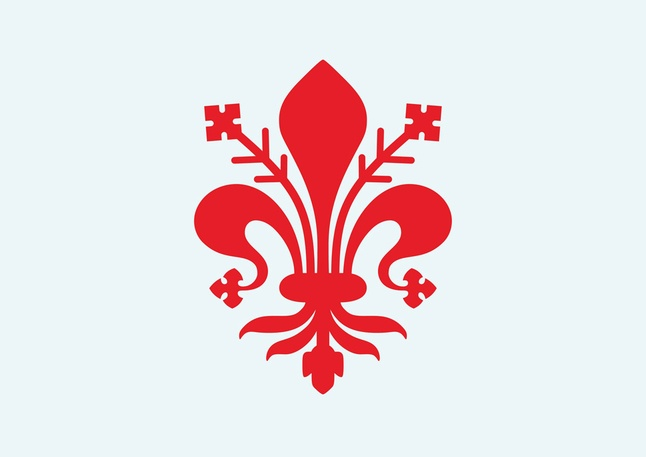 When Florence declared its independence from France, they changed their symbol to red.