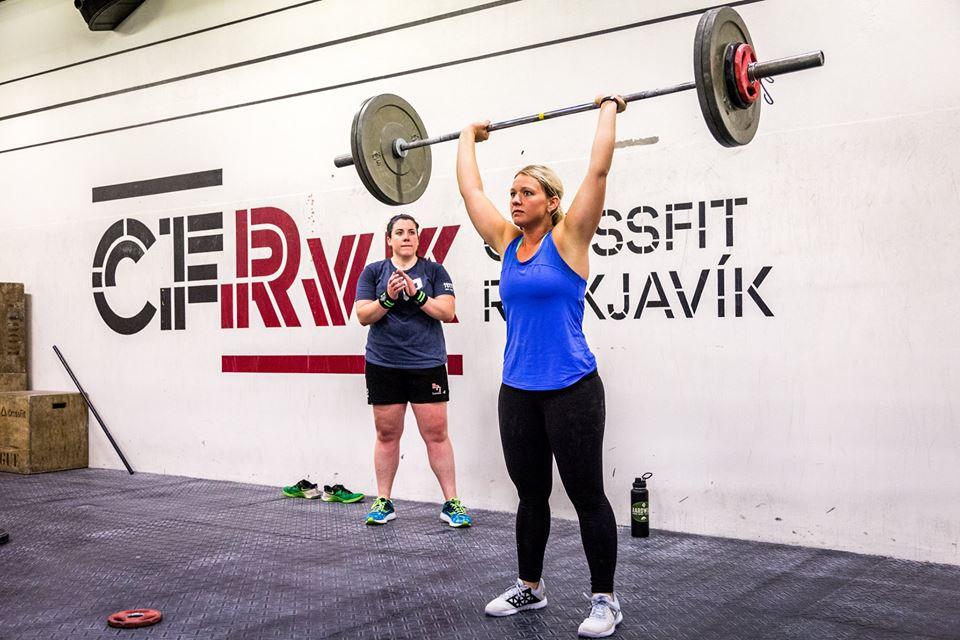 Kristen St. Germain at CrossFit Reykjavik in Iceland 2017.